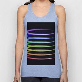 Neon rainbow light effects. Unisex Tank Top