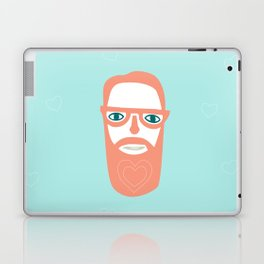 Carry your love in your beard Laptop & iPad Skin