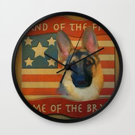 Home of the Brave Wall Clock