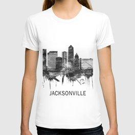 Jacksonville Florida Skyline BW T-shirt