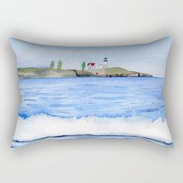 Ocean waves with Lighthouse Watercolor Art Rectangular Pillow