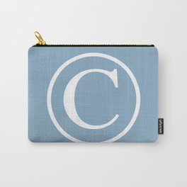Copyright sign on placid blue background Carry-All Pouch