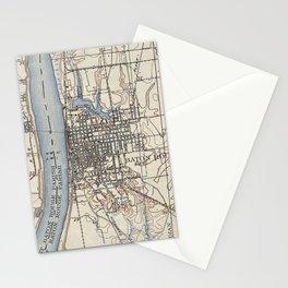 Vintage Map of Baton Rouge Louisiana (1906) Stationery Cards