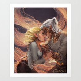 Fire Queen Art Print