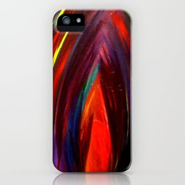 Jewel Tone Flame Feather iPhone Case