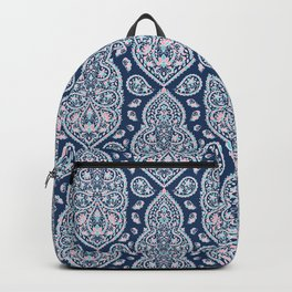 Blue paisley pattern Backpack