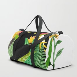 Cat Flower Duffle Bag