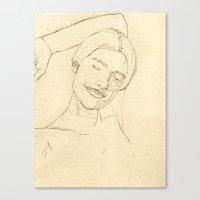valentina Canvas Prints featuring Valentina by HermanasOso