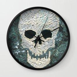 Large Skull Painting Wall Clock