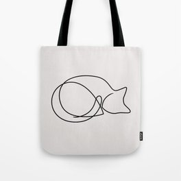 One Line Kitty II Tote Bag