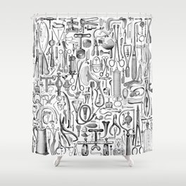 Medical Condition B&W Shower Curtain