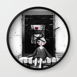 Niña en la ventana Wall Clock