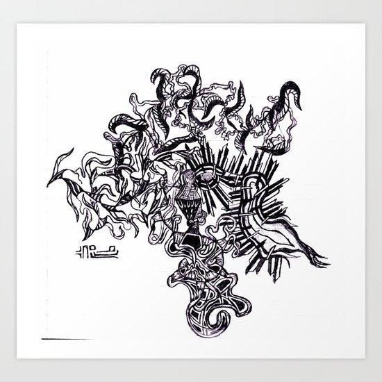 Four Way Branch Art Print