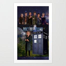 7 Doctors Art Print