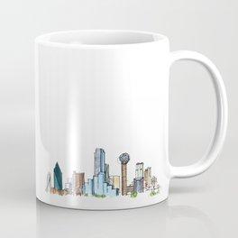 downtown dallas skyline Coffee Mug