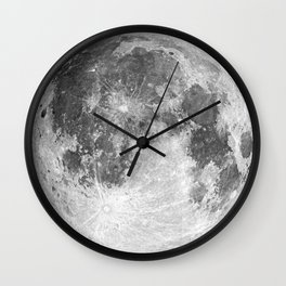 1901 Lunar Expedition Poster Wall Clock