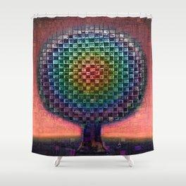 Tree Town Rainbow Etude Shower Curtain