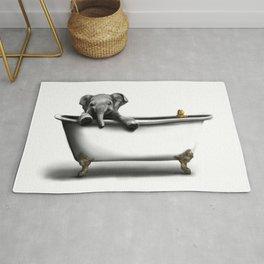 Elephant in Bath Rug