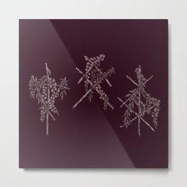 3 Red Runes Metal Print