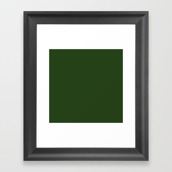 Solid Dark Forest Green Simple Solid Color All Over Print Gerahmter Kunstdruck
