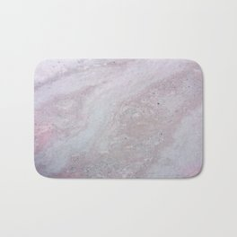 Elegant Pink Polished Marble Bath Mat