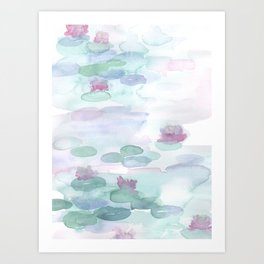 Monet Lily pads Art Print