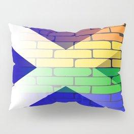Gay Rainbow Wall Scotland Flag Pillow Sham