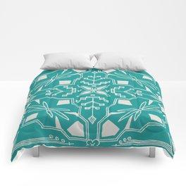 Turquoise Batik Comforters