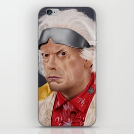 "Emmett ""Doc"" Brown iPhone Skin"