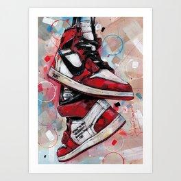 Air Jordan 1 High Off White  Art Print