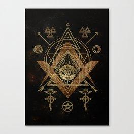 Mystical Sacred Geometry Ornament Canvas Print