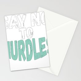 Ocean Lover Say No To Nurdles Environmentalist Gift for Coastal Cleanup Day Stationery Cards