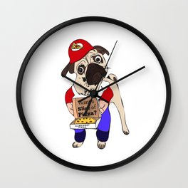 A Slice of Pizza? Dog Wall Clock