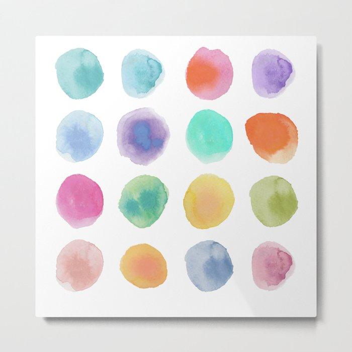 Colorful Dots Metal Print