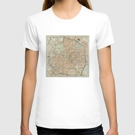 Vintage Map of Milan Italy (1911) T-shirt
