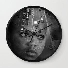 INMIGRANT IN BARCELONA (2017) Wall Clock