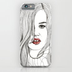 Georgia with Red Lips iPhone 6s Slim Case