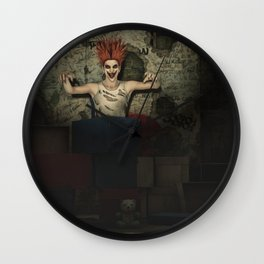 Jack in The Box - Scary Clown Artwork Wall Clock