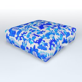 Exotic Garden Blue Outdoor Floor Cushion