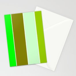 just four colors 1: green Stationery Cards