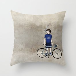 Gainsbourg Wears Gitanes Throw Pillow