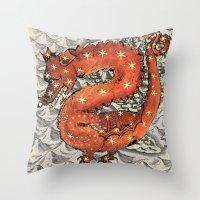 carpe diem Throw Pillows featuring Carpe Diem by anipani