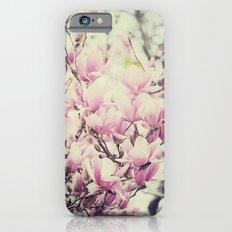 Purple Magnolia Blossoms Spring Botanical Slim Case iPhone 6s