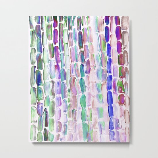 Purple and Green Sugarcane, Greenery Metal Print