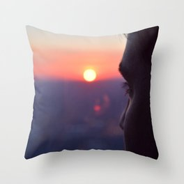 Sunset on Chicago Throw Pillow