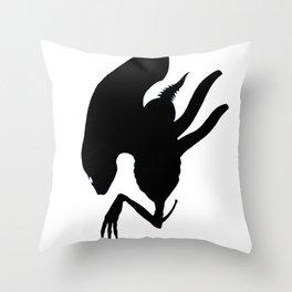 Alien Drone Throw Pillow