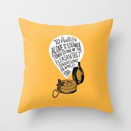 To Awaken Alone Throw Pillow