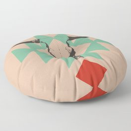 Southwest long horn Floor Pillow