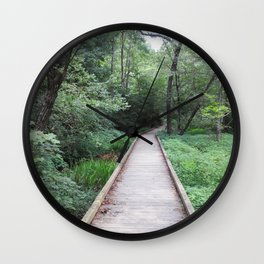 Wooden Pathway Wall Clock