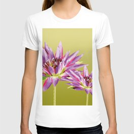 Water Lilies violet green T-shirt
